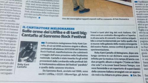 Cantafio al Sanremo Rock Festival
