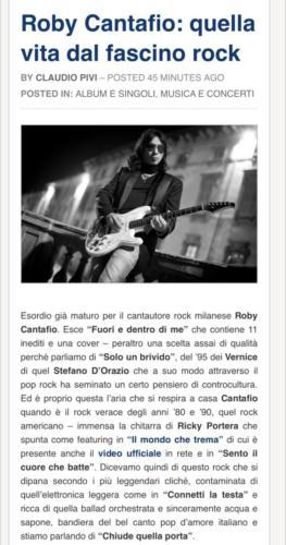 Roby Cantafio Quelle Vita Dal Fascino Rock