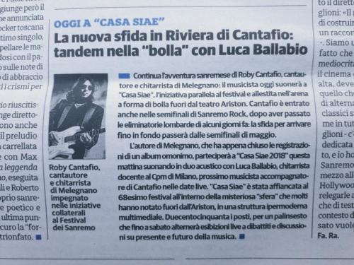 La nuova sfida in riviera per Cantafio con Luca Ballabio